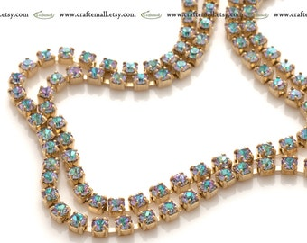 Preciosa crystal cup chain Crystal Vitrail Light 2mm ss65 - one meter