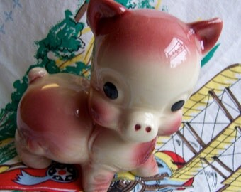 adorable little pink piggy figurine