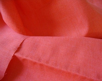 Vintage Orange Cotton Bottomweight FABRIC Yardage