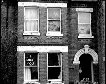 The sad house - I Miss You 8x8 fine art photography print