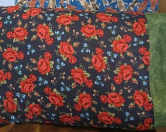 Shabby Chic Roses Blue Standard Pillow Case