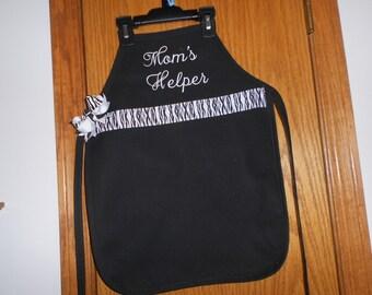 Personalized Child's Mom's Helper  Apron