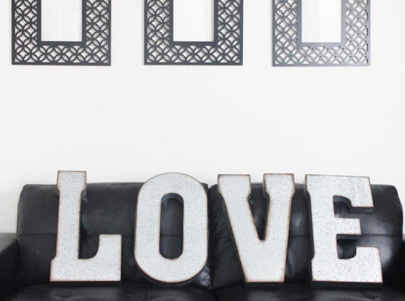 Large Zinc Letters Sale Love Metal Letters Large Zinc Steel Initial Home Room