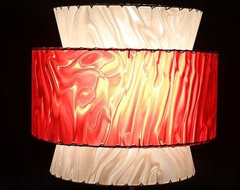 Mid Century Modern-style Lampshade - 3-tiered shade is perfect for the vintage or retro decor