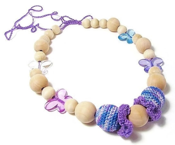 Items similar to teething necklace baby safe jewelry for When can babies wear jewelry