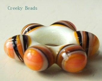 "Handmade Lampwork bead ""Tequila Sunrise""  Creeky Beads SRA"
