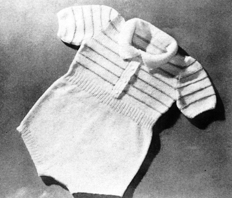 Vintage Knit Boy Romper Pattern Sweater Onesie For Baby Reborn