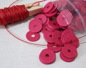 Red Cardboard Washer Discs Scrapbooking Envelope Making Qty 100