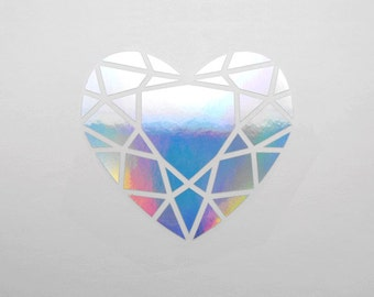 Heart Gem Decal