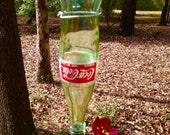 Coke bottle, hummingbird feeder, with perch ,humming bird feeder