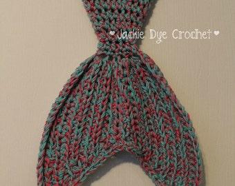 Shark Tale Cocoon Crochet Pattern Free : Crochet Mermaid Tail Blanket