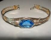 Genuine SANDILINO Bracelet STERLING w/ a Blue Topaz