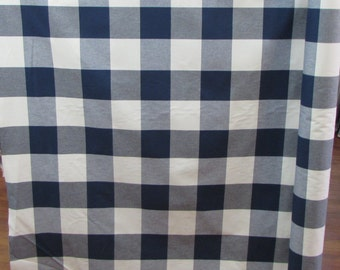 BUFFALO CHECK in navy designer,drapery/upholstery fabric