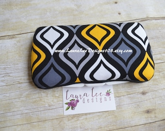 Yellow and Black Diamond Boutique Style Travel Baby Wipe Case, Personalized Wipe Case, Diaper Wipes Case, Wet Wipe Case, Nappy Wipes Case