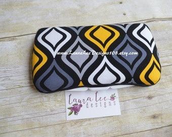Yellow and Black Diamond, Ikat, Quatrefoil, Travel Baby Wipe Case, Personalized Wipe Case, Diaper Wipes Case, Baby Wipe Case, Wipe Holder