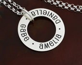 Floating Eternity Circle Necklace - Sterling Silver Mommy Necklace