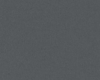 Charcoal Grey  Flannel Kaufman Quilt Fabric by the 1/2 yard