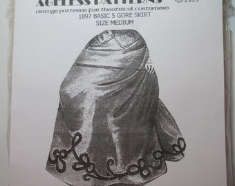 Ageless Patterns #1070 - 1897 Basic 5 Gore Skirt - size medium