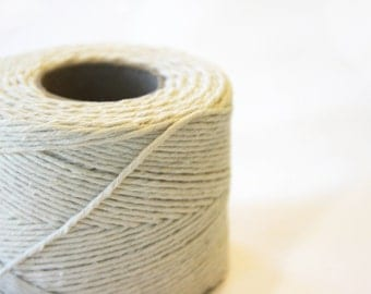 50 8 inch Pieces of Cotton Twine for use with Gift Tags - wedding favors, baby shower favors, christmas, special occasion gifts