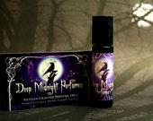 DEEP MIDNIGHT Perfume Oil: Amber, Dusty Rose, Vanilla, Musk, GOTHIC Perfume, Victorian Perfume