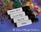 MARDI GRAS Perfume Sampler Set - Set of FOUR 1 ml vials - Artisan Perfume - Mardi Gras Perfume
