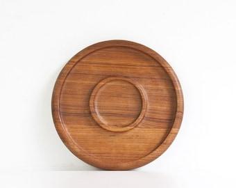 Vintage Danish Modern Style Teak Wood Tray