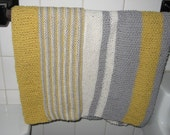 2 pcs Handknit Guest Bathroom or Kitchen Hand Towels Set Cotton/Linen Blend Absorbent Unique Designer Pattern Free Shipping