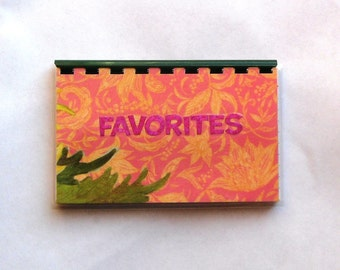 Handmade Favorites Blank Recipe Book