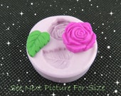 Silicone Rose Leaf Mold Soap Embed Fondant Resin Clay Wax Mold PMC Charm Mold