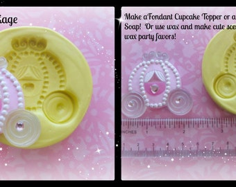 Princess Carriage Silicone Flexible Mold Fondant Polymer Clay Resin Mold