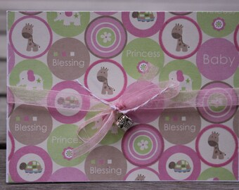 Baby Shower card, Baby Girl congrats card, Newborn Baby Congrats, New Baby, Baby Blessings