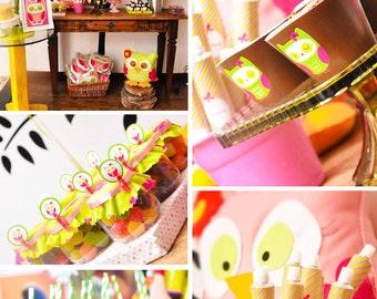 Owl Birthday | Owl Party | Owl Party Printable | Owl Decorations | Owl Printable