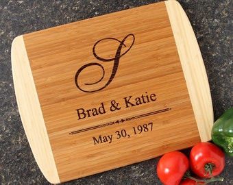 Personalized Wedding Gift Personalized Cutting Board Bamboo Cutting Boards Personalized Wedding Gifts Housewarming Gift-14 x 11 D11