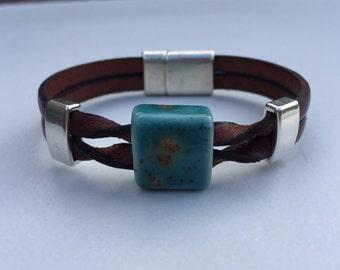 Twisted Porcelain Bracelet