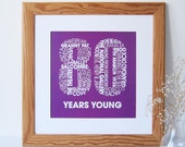Personalized 80th Birthday Print - Personalised Birthday Print - Birthday Print for Her - Birthday Print for Him
