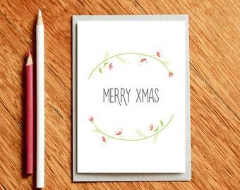 Christmas Card, Christmas Cards, Card For Her, Card For Him, Holiday Card, Xmas Gift, Teacher Xmas Gift, Teacher Card, Xmas Card for Mom