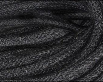 8MM Black Jute Flex Tubing RE366102, Poly Mesh Supplies (10 Yards)