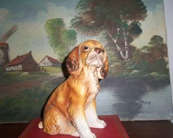Vintage dog figurine Spaniel