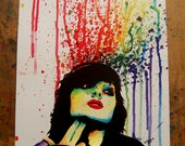 Edgy Punk Rock Rainbow Pop Art Portrait Wall Art Print - Don't Drink Poison by Carissa Rose 5x7, 8x10, 11x14 Signed Print Rainbow Colorful
