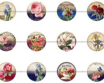Flower Magnets Pins, Gift Set, Fridge Magnets, Pin Magnet Set, Party Favors