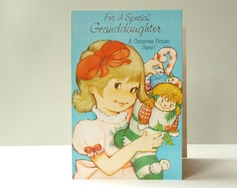 Granddaughter card - Original and *unused* 1982 CHRISTMAS CARD