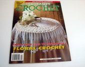 DECORATIVE CROCHET Pattern Book....Sept. 1996 - # 53  ....Floral Crochet - Lace tablecloth patterns - doily patterns - vintage crochet