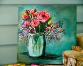 Jar 'o Flowers | ooak