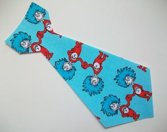 DIY No-Sew Dr Seuss Thing 1 & Thing 2 Fabric Tie Applique - Iron On
