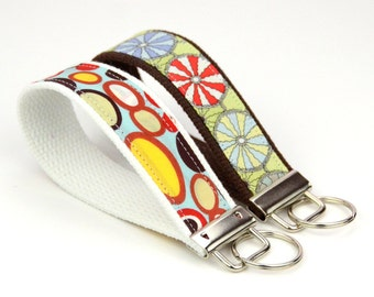 BUY 4 GET 1 FREE- Keychain Wristlet- Key Fob in Jelly Bean Fabric
