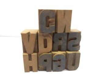 Vintage  Print   Blocks