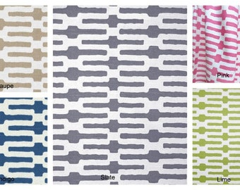 Kaufmann Links Fabric, 50x84 Rod Pocket Panels, more lengths available - Lime, Taupe, Grey, Indigo, Pink