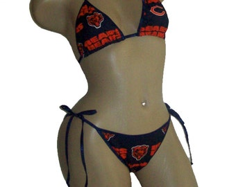 Denver broncos bikini by sexy crushes custom made top and for Custom tailored shirts chicago