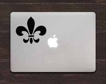 Fleur-de-lis Vinyl MacBook Decal BAS-0268