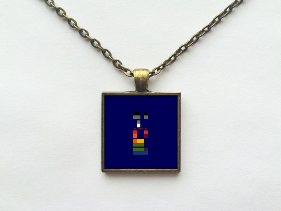 Coldplay - X&Y Album Cover Necklace OR Keychain